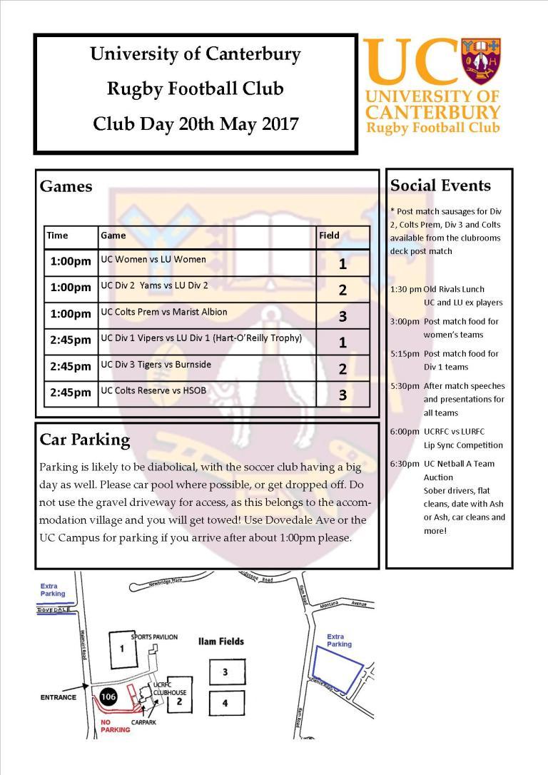 Club Day Flyer